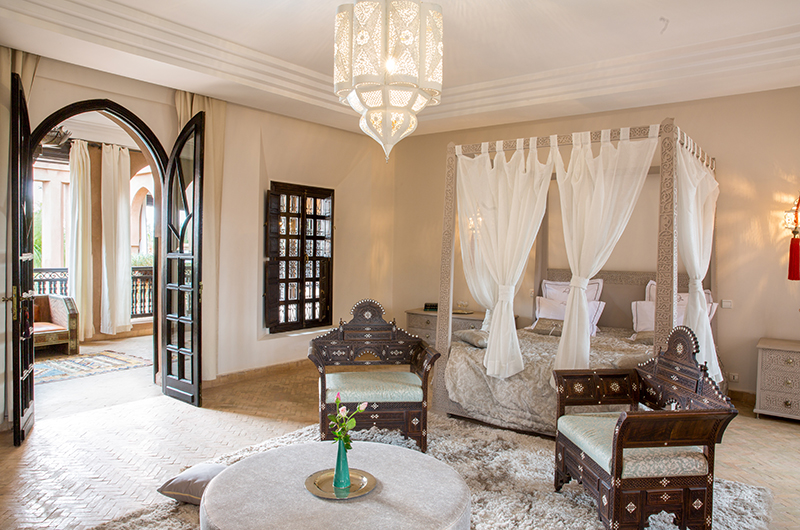 Villa Tika Master Bedroom with Seating | Marrakesh, Morocco