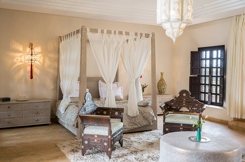 Villa Tika Living Master Bedroom Area | Marrakesh, Morocco
