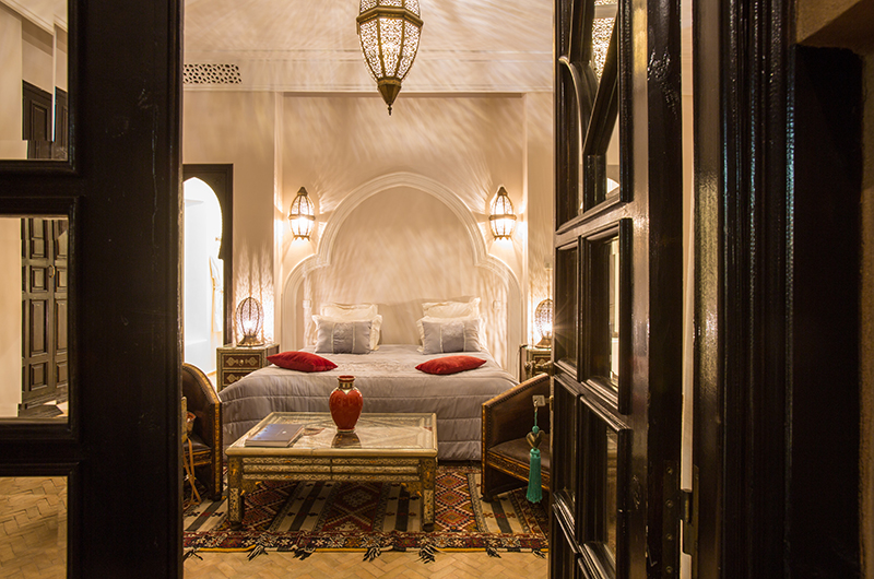 Villa Tika Bedroom with Lamps | Marrakesh, Morocco