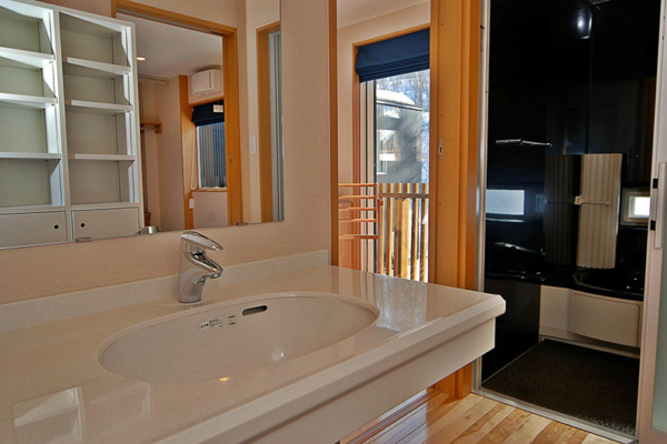 Casi 67 East Bathroom Area | Hirafu, Niseko