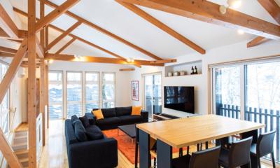Casi 67 East Living Room with TV | Hirafu, Niseko