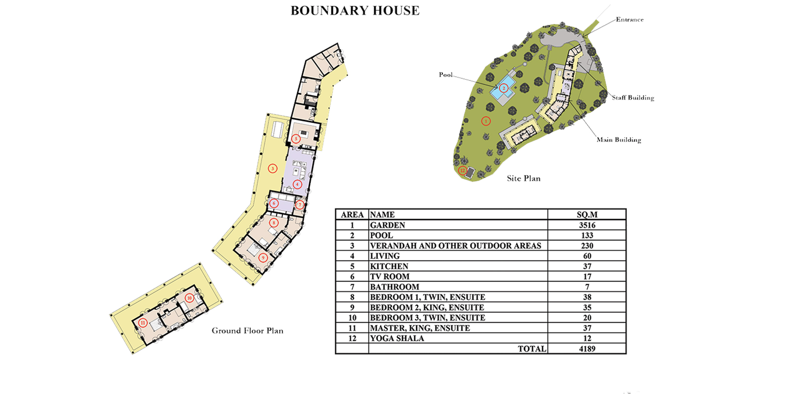 Boundary House Floor Plan | Galle, Sri Lanka