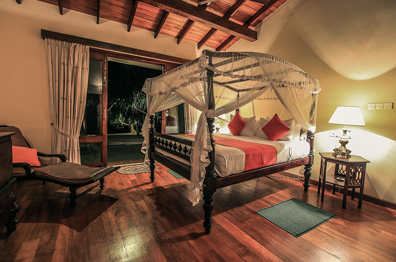 South Point Villa Bedroom with Lamps | Galle, Sri Lanka