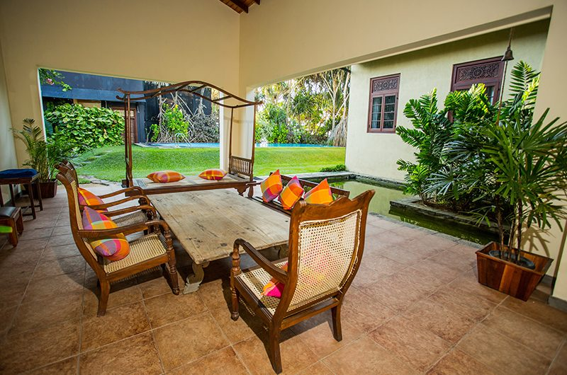South Point Villa Outdoor Seating | Galle, Sri Lanka
