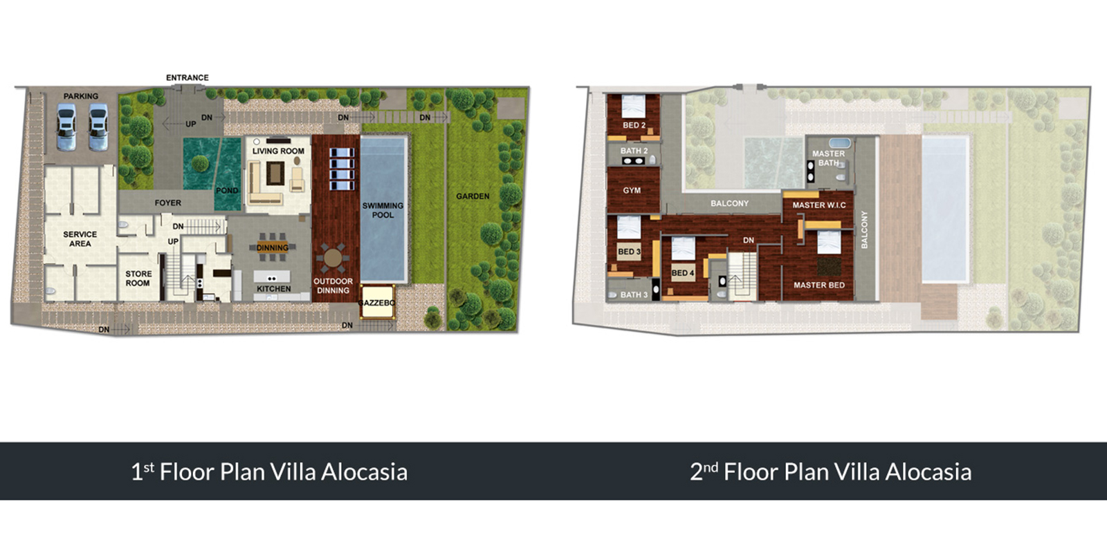 Villa Alocasia Floor Plan | Canggu, Bali