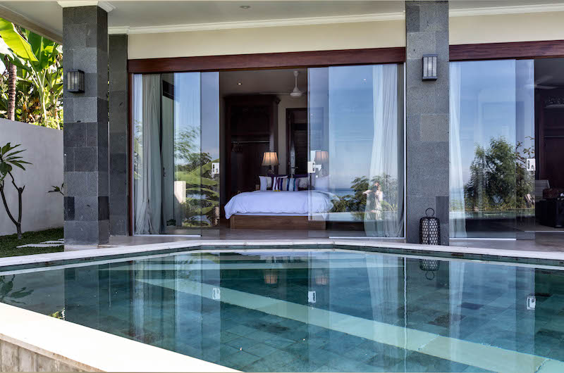 Villa Gumamela Bedroom with Pool View | Candidasa, Bali