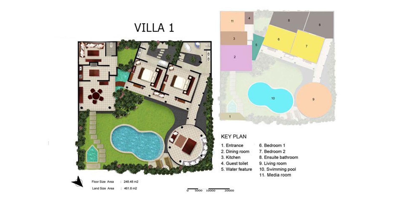 Villa Kubu 1 Floor Plan | Seminyak, Bali