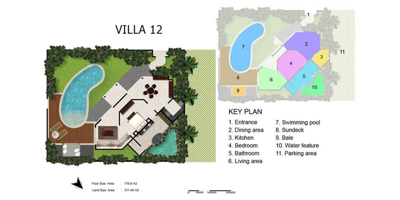 Villa Kubu 12 Floor Plan | Seminyak, Bali