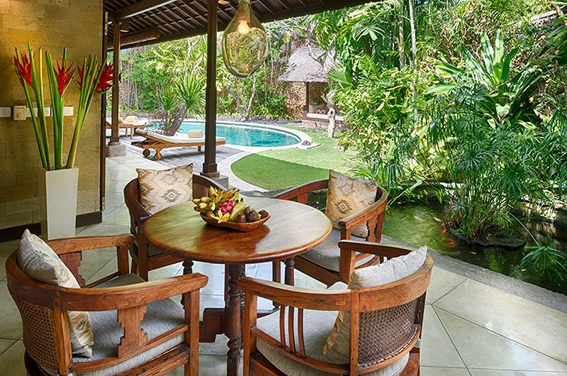 Villa Kubu 4 Dining Table   Seminyak, Bali