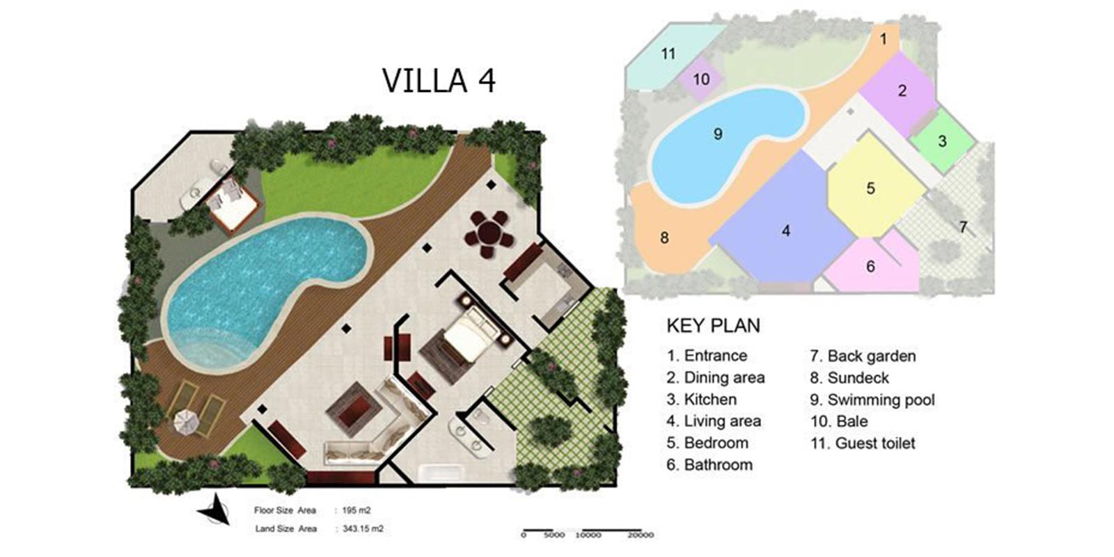 Villa Kubu 4 Floor Plan   Seminyak, Bali