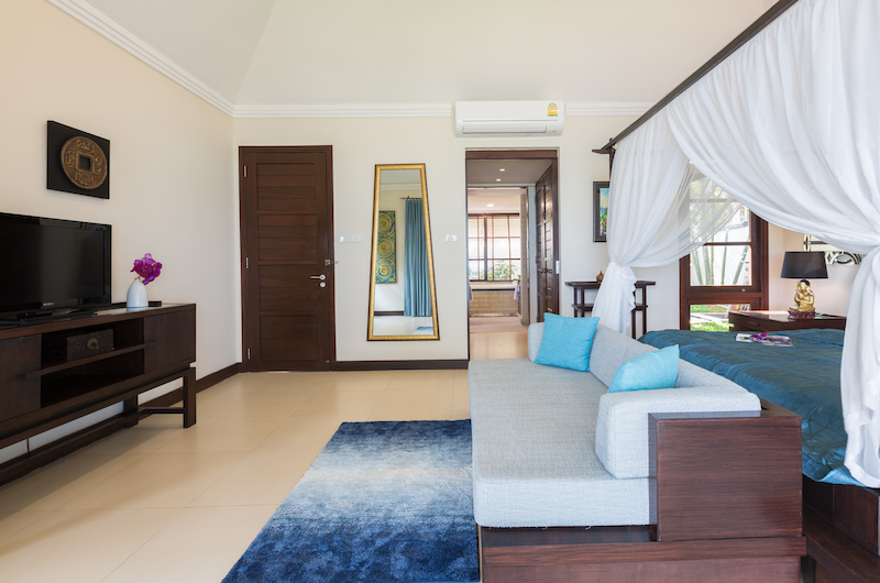 The Beach House Master Bedroom with TV | Chaweng, Koh Samui