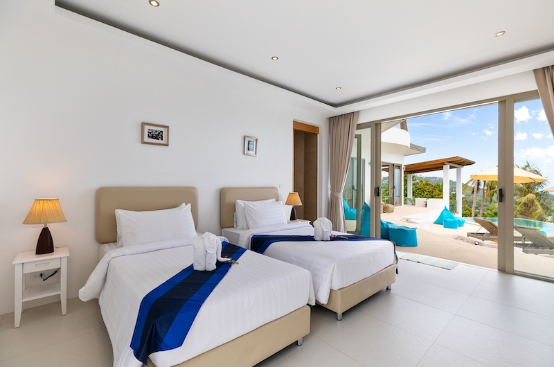Villa Pearl Twin Bedroom Side | Bophut, Koh Samui