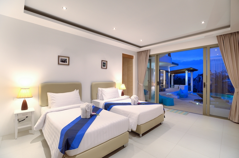 Villa Pearl Twin Bedroom Area | Bophut, Koh Samui