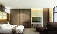 Hachi Bedroom with TV | Hakuba, Nagano