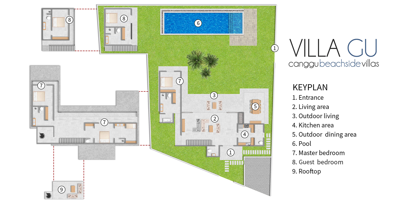 Villa Gu Floor Plan | Canggu, Bali