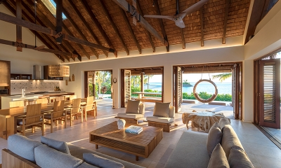 Six Senses Fiji Living and Dining Area | Malolo, Fiji