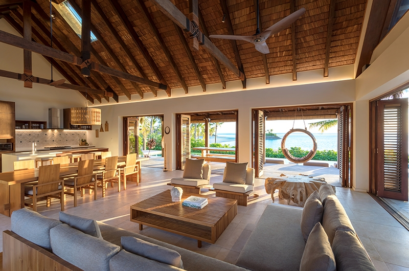 Six Senses Fiji Living and Dining Area | Malolo, Fiji