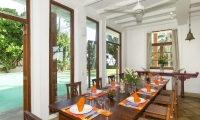 Skye House Dining Area | Koggala, Sri Lanka