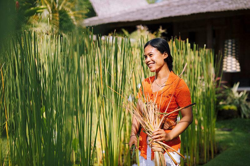 Bali Canggu Villa Zelie Staff Garden