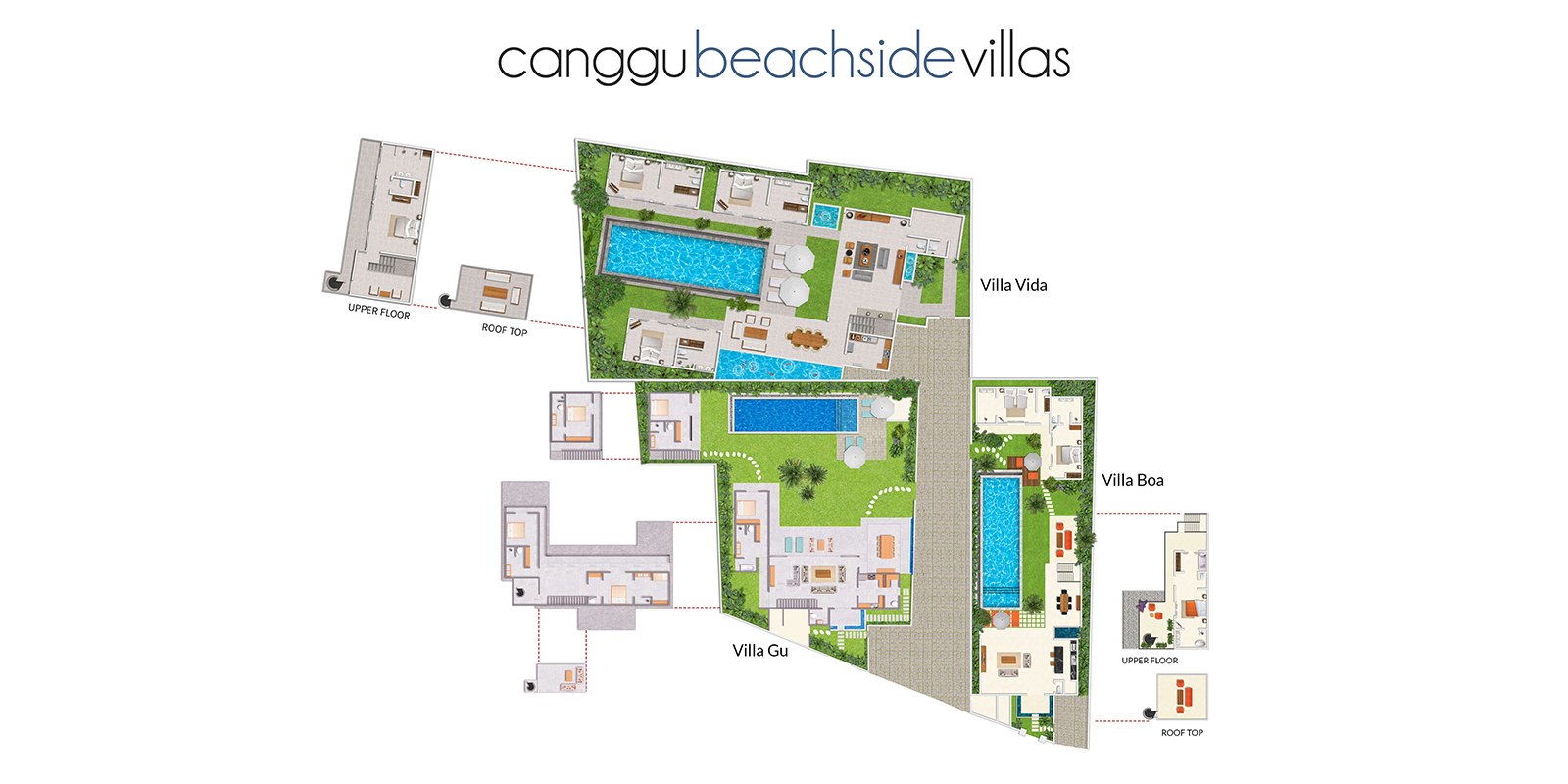 Canggu Beachside Villas Floor Plan | Canggu, Bali