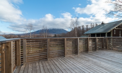 Komorebi Chalet Balcony with Mt. Yotei Views | Hirafu, Niseko