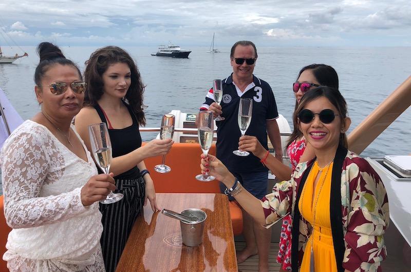 Phuket Kata Rocks Superyacht Rendezvous Champagne