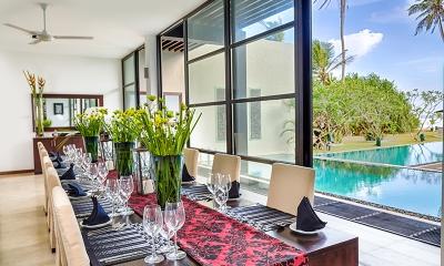 Mirissa Beach Villa Dining Table   Mirissa, Sri Lanka