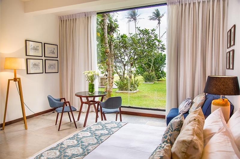 Mirissa Beach Villa Bedroom One with Seating | Mirissa, Sri Lanka