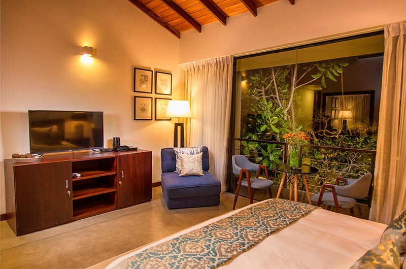 Mirissa Beach Villa Bedroom with TV | Mirissa, Sri Lanka
