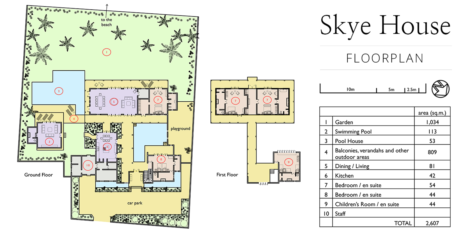 Skye House Floor Plan | Koggala, Sri Lanka