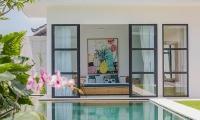 The Starling Villa Bedroom with Pool View | Canggu, Bali