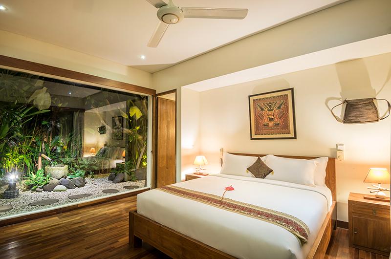 Villa Ku Besar Bedroom Night View   Seminyak, Bali