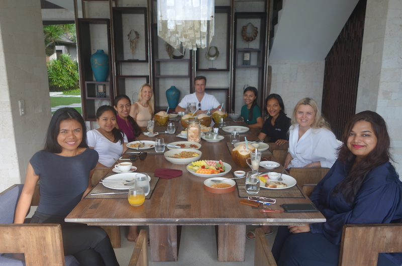 Group Breakfast, Villa Jamadara | Uluwatu, Bali