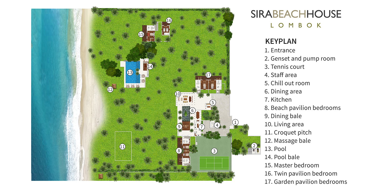 Sira Beach House Floor Plan | Lombok, Indonesia
