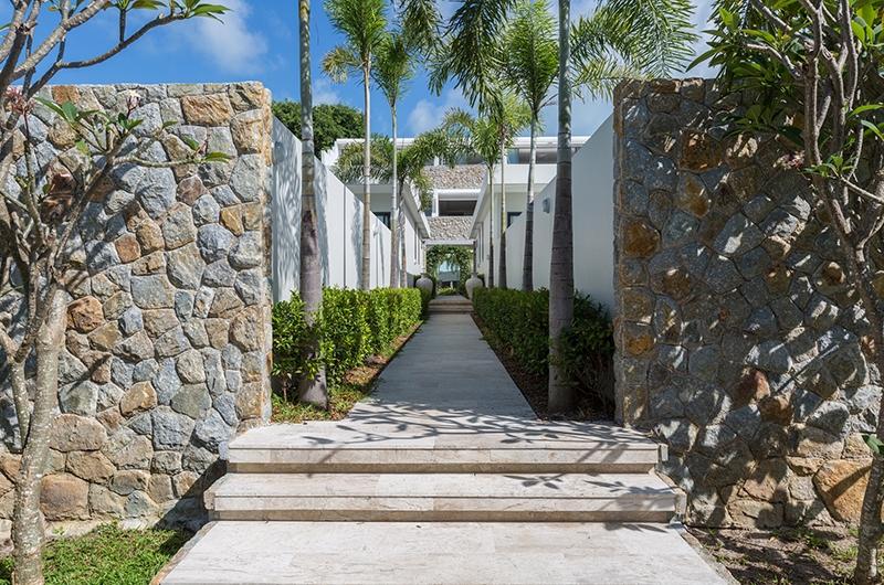 Villa Saam Entrance | Choeng Mon, Koh Samui