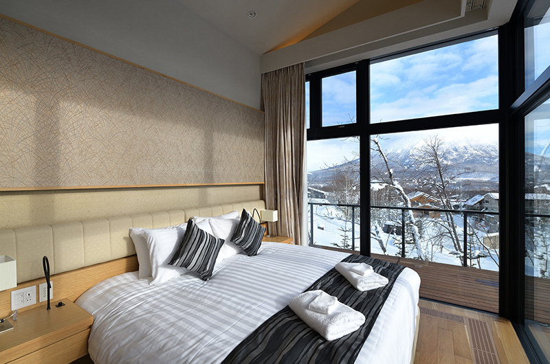 Tsudoi Bedroom Side with Mt Yotei Views | Hirafu, Niseko