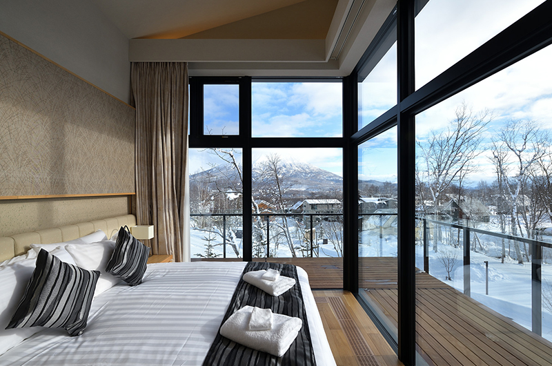 Tsudoi Bedroom with Mt Yotei Views | Hirafu, Niseko