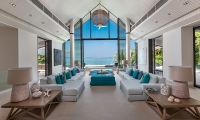 Villa Vikasa Living Room with Lamps | Cape Yamu, Phuket