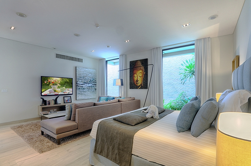 Villa Vikasa Bedroom Area with TV | Cape Yamu, Phuket