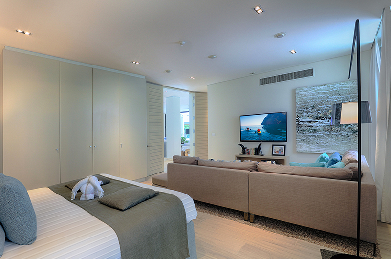 Villa Vikasa Bedroom with TV | Cape Yamu, Phuket