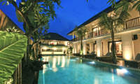 Villa Elite Cassia Pool Night View   Canggu, Bali