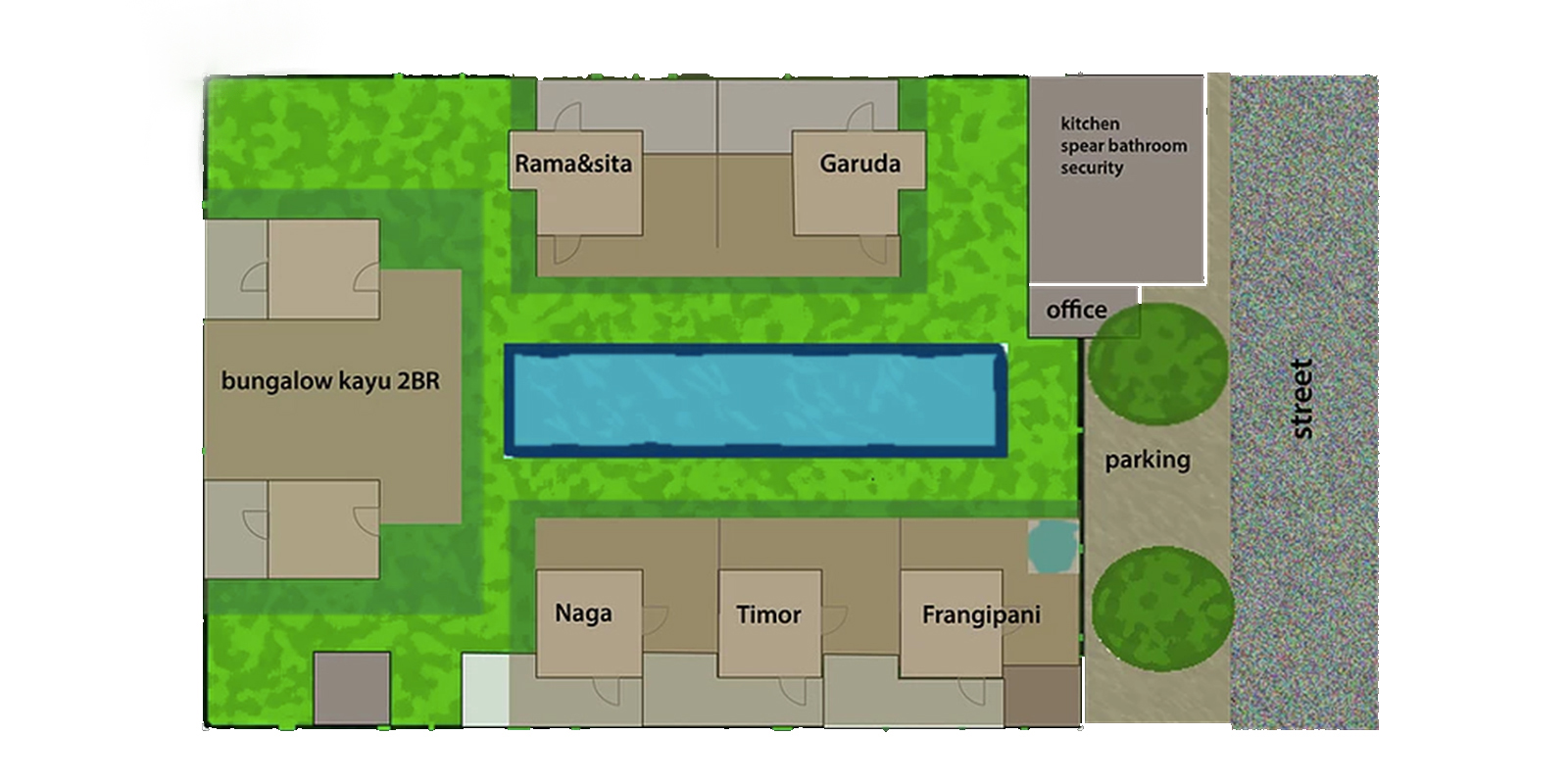 Villa Karmagali Floor Plan   Sanur, Bali