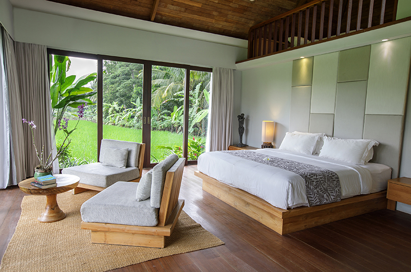 Villa Lumia Bedroom with Lamps | Ubud, Bali
