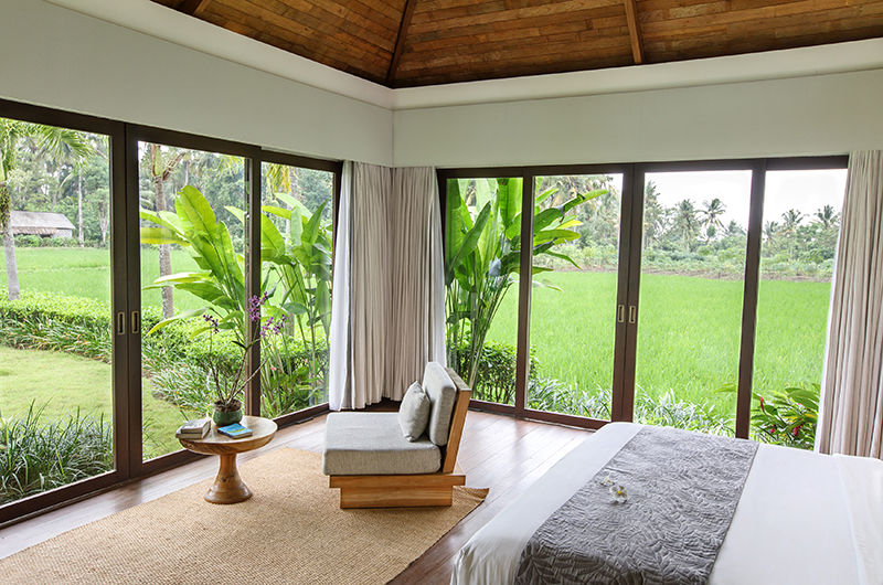 Villa Lumia Bedroom with Rice Field Views | Ubud, Bali