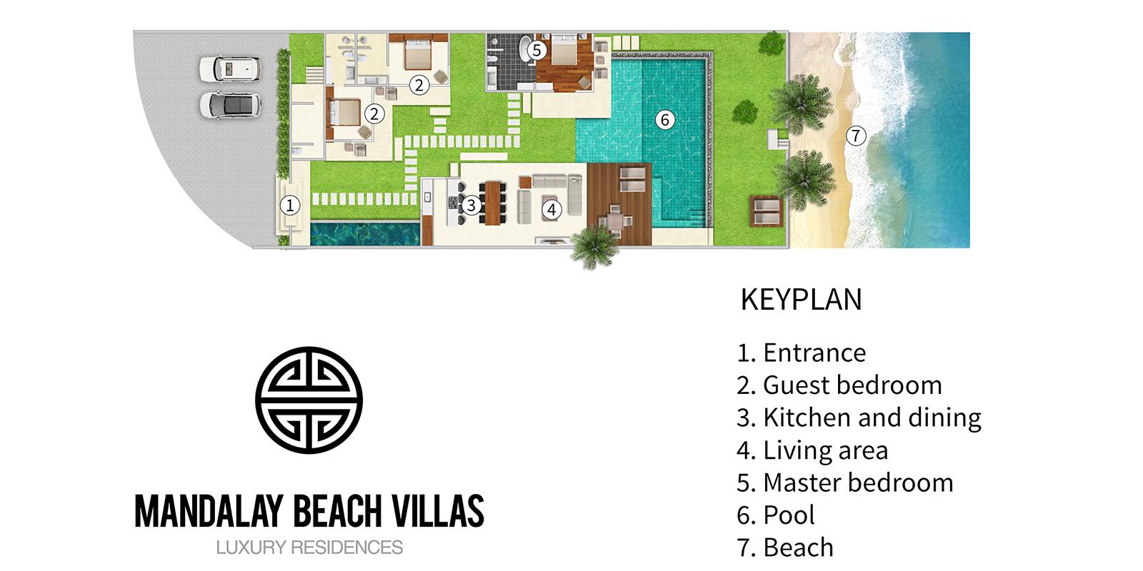 Mandalay Beach Villas Floor Plan | Bang Por, Koh Samui