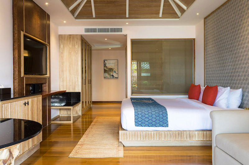 Villa Angthong Bedroom with TV | Choeng Mon, Koh Samui