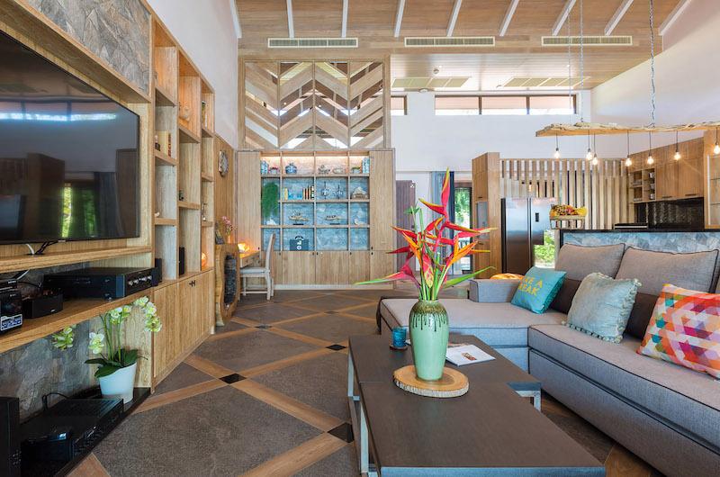Villa Angthong Living Area | Choeng Mon, Koh Samui