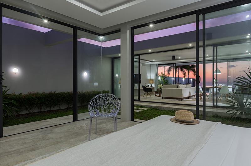 Villa Song Skye Bedroom Night View with Seating | Choeng Mon, Koh Samui
