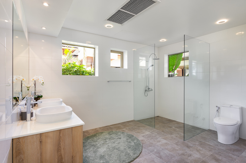 Villa Sand Bathroom with Shower | Natai, Phang Nga