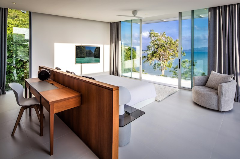 Villa Assava Bedroom Two with Seating | Cape Yamu, Phuket